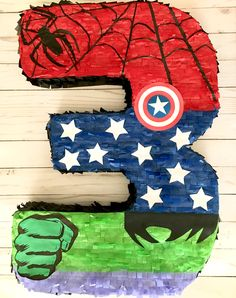 Celebrate with your favorite superheroes with this birthday piñata! Featuring Spider-Man, Captain America and the Hulk! Superman Birthday Party, Birthday Pinata, 5th Birthday Party Ideas, Avengers Birthday, Superhero Party, Captain America Birthday, Hulk Party, Hulk Cakes, Diapers