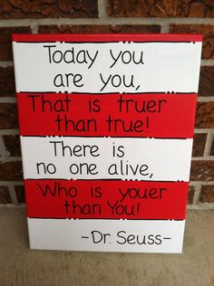 Two Pack Dr Seuss Quotes on Painted Canvas by LeighMarieBoutique