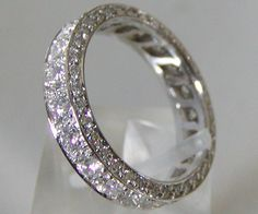 Channel set eternity band with diamond gallery.... please and thank you! <3