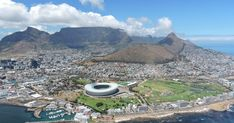 Cape Town, South Africa seen from a helicopter