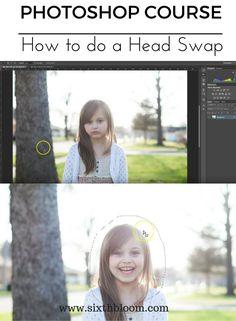 Troca de cabeça de curso de photoshop