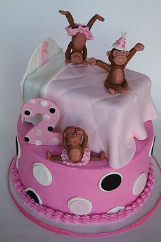 No more monkeys jumping on the bed Cake! What a cuts idea for a bday that's not done often!