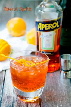 Aperol Spritz-had these in Rovereto, Italy. Soooo refreshing on a summer day!