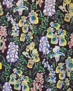 Raoul Dufy Textile Prints, Textile Patterns, Vintage Prints, Vintage Floral, Raoul Dufy, Art Uk, New Print, Large Flowers, Backgrounds