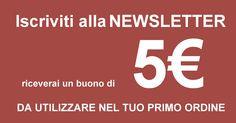 Iscriviti alla newsletter riceverai un buono di 5 Euro da utilizzare nel tuo primo ordine www.robyandroby.eu