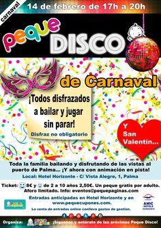 Peque Disco Familiar de Carnaval y San Valentín - Palma - toda la familia