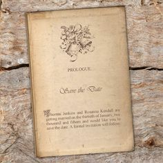 VINTAGE LITERARY WEDDING SAVE THE DATE CARDS x 10 STORY BOOK PAGE SAVE THE DATES