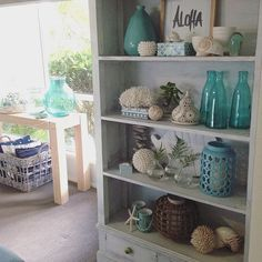 Good morning! Yay for the weekend - I've got lots of things planned! 1st thing today - a trip to IKEA! Wish me luck, hope it's not too busy  #home #timbershelves #aqua #white #texture #colour #pattern #coastal