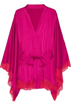 This #Agent Provocateur #silk robe with #lace trim will melt an igloo available on @NET-A-PORTER.COM for $990