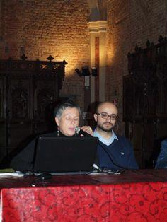 Un momento della conferenza: la dott.ssa Cristina Marchegiani e il dr. Stefano Zecchino (Photo by Patrizia Porcellana)