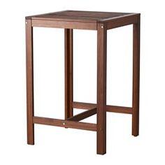 IKEA - ÄPPLARÖ, Bartafel, buiten, Voor extra slijtvastheid, en om de natuurlijke uitstraling van het hout te kunnen zien, is het meubel voorbehandeld met een laag halftransparante houtlazuur.