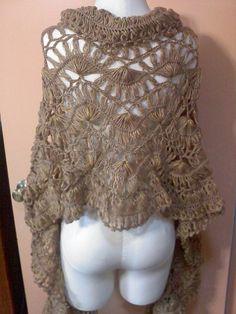 Hairpin shawl. Free pattern on Ravelry