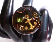 Golden Anchor At The Bottom Of The Sea by 50CentRings on Etsy