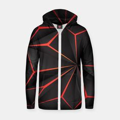 Futuristic Triangulation Cotton zip up hoodie, Live Heroes Futuristic, Hooded Jacket, Zip Ups, Hoodies, Live, Stylish, Cotton, Jackets, Accessories