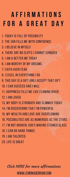 Positive Affirmations: Plus Free Downloadable files Lists of downloadable positive affirmations, completely FREE for you because I love y'all and want you to succeed! Positive affirmations are a powerful tool. I believe the more we use them and get our th