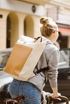 bike backpack   rucksack   messenger bag   women   daypack   men   backpack for her   travel rucksack   Lund Sand Brown by Kapten & Son