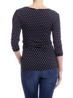 Patsy Dots Shirt black