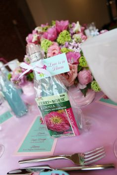Love is in Bloom Bridal Shower idea from Head of the Table