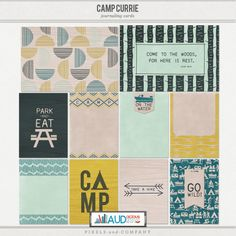 Camp Currie: Journaling Cards