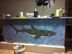 cut glass mosaic shark - Google Search