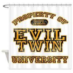 Evil Twin University Vintage Shower Curtainu003e Shower Curtainsu003e Custom Design  Store