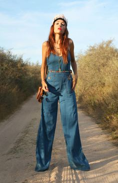 tuta jeans, flares pants, seventies look, outfit seventies, theladycracy.it, elisa bellino, fashion blogger outfit 70, come vestirsi anni 70