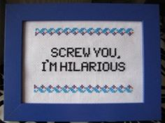 Cross Stitch Pattern  Freaks and Geeks by plasticlittlecovers, £2.00