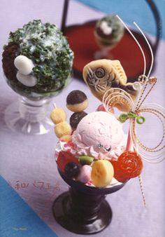 Japanese parfait . I want to eat ...