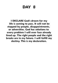 "In the Name of Jesus Christ, i Declare this!       ~ joel osteen's book: ""Declare."""