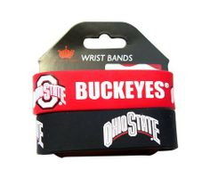"""Ohio State Rubber Wrist Band Set of 2 NCAA by aminco. Save 17 Off!. $8.84. NCAA OFFICIALLY LICENSED. 100% SATSFACTION GUARANTEED. ONE SIZE FITS MOST. PERFECT STOCKING STUFFER. 8 INCHES AROUND  1 INCH WIDE SILICONE RUBBER  WRIST BAND BRACELE. Show your team spirit all day long! Great for any sports fan. Official product of NCAA. Set of 2 rubber wrist bands. They have a nice, deep lettering and wide, thick band. Elastic band is approx. 1"""" wide and 8"""" round. 2 colors & 2 designs. ..."""