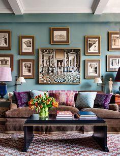 Love wall color!! Alexa Hampton apartment, photo by Scott Frances for AD