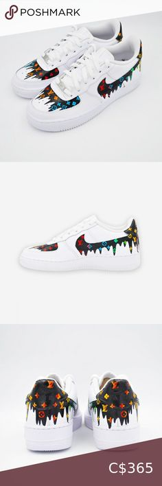 Nike Air Force LV DRIP Limited supply  Nike Air Force 1 Custom 'Available in all sizes for Men and Women.  For Womens sizes subtract 1.5 from your current size and select it, for example:  Women size 7 = 5.5 US Men Women size 8 = 6.5 US Men Women size 9 = 7.5 US Men Women size 10 = 8.5 US Men   All of our designs are handmade and made to order, we manage our orders professionally and use original high quality sneakers. Nike Shoes Sneakers Nike Shoes, Shoes Sneakers, Us Man, Nike Air Force, Nike Men, Air Jordans, Size 10, Man Shop, Handmade