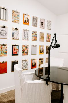 The Hollis Co Office Remodel Studio Room, Studio Setup, Home Studio, Rachel Hollis, Podcast Setup, Clipboard Wall, Loft, House Colors, Office Decor