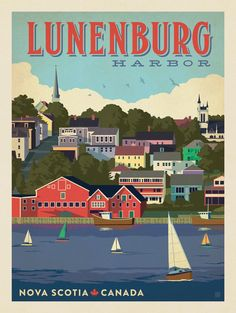 Canada: Lunenburg Harbor - After the smashing success of our Art & Soul of America collections, we decided to create classic travel prints featuring our favorite cities around the world. These are perfect for decorating with a sense of wanderlust and globe-trotting adventure.