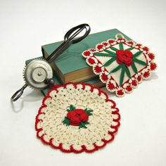 Crochet pot holders - I've been collecting these - and love them for use on a penant banner.