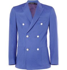 Paul Smith London Abbey Double-Breasted Cotton-Twill Blazer   MR PORTER
