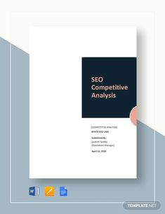 Instantly Download SEO Competitive Analysis Template, Sample & Example in Microsoft Word (DOC), Google Docs, Apple (MAC) Pages Format. Available in A4 & US Letter Sizes. Quickly Customize. Easily Editable & Printable. Website Analysis, Seo Analysis, Microsoft Publisher, Microsoft Word, Keyword Ranking, Competitive Analysis, Operations Management, Seo Agency, Google Docs