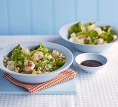 Seafood matches perfectly with bittersweet citrus fruit, like pomelo or grapefuit. Add chilli and a tamarind dressing for a bold Thai salad