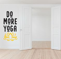 Inspire your yoga practice with this awesome wall sticker/decal