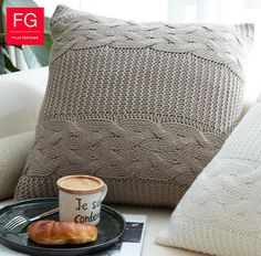 Aliexpress.com: Comprar 50*50 cm color sólido de lana de punto funda de almohada decorativa fundas de colchón gris sofá blanco funda para almohada de sofá y mesa de comedor fiable proveedores en twinkle star 1 2 3