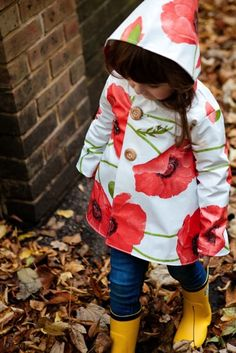 Rain jacket from a table cloth...this is so cute...I want to make one  for emmalee....