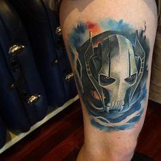 Grievous Star Wars Tattoo Design by Benjamin Laukis