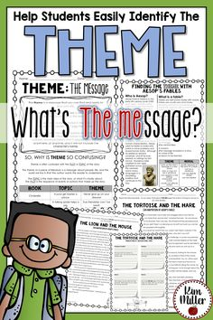 Finding the Theme: Using fables seems to help students identify themes a little easier. Classroom activities for teaching theme in the classroom.