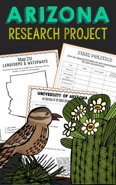 Arizona State History Research Project. This complete notebook unit is the perfect companion to your annual state studies. Your students will use the internet to research a variety of topics to include: economics, government, geography, politics, current events, higher education, weather, historical figures, Native Americans, state symbols and icons, historic timeline, state flag, folk songs, Westward Expansion, the Civil War, and the Industrial Revolution.