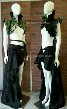 Sale Showgirl Bustle Burlesque maxi skirt and by TheFashionVault