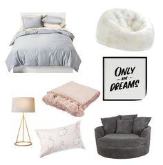 """Bedroom"" by mahaberii on Polyvore featuring interior, interiors, interior design, home, home decor, interior decorating, Baron Von Fancy, Room Essentials, David Jones and Jaipur"