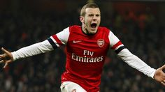 Arsenal's Jack Wilshere celebrates scoring their winning goal against Swansea in FA Cup third round replay