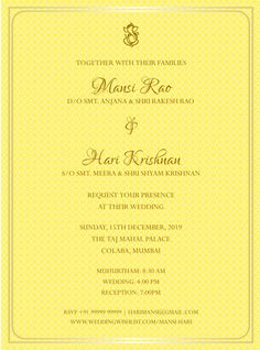 With a huge range of collections from elegant and traditional to modern and contemporary, customize your favourite design that perfectly suits your personal style. Wedding Invitations Online, Digital Invitations, Wedding Invitation Templates, Invites, Invitation Card Maker, Invitation Card Design, Wedding Wishlist, Engagement Cards, Free Wedding