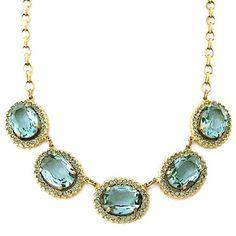 La Vie Parisienne necklaces. The Queens Jewels, Indian Sapphire crystal statement necklace.