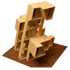 maquette presenting architectural composition with the use of repeatable element